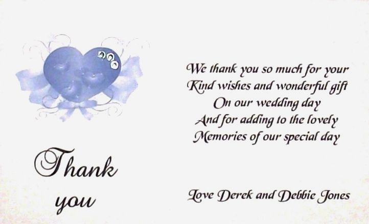 Thank You Card Wedding Gift: Thank You Gift Cards Wedding Personalised Elegant Heart