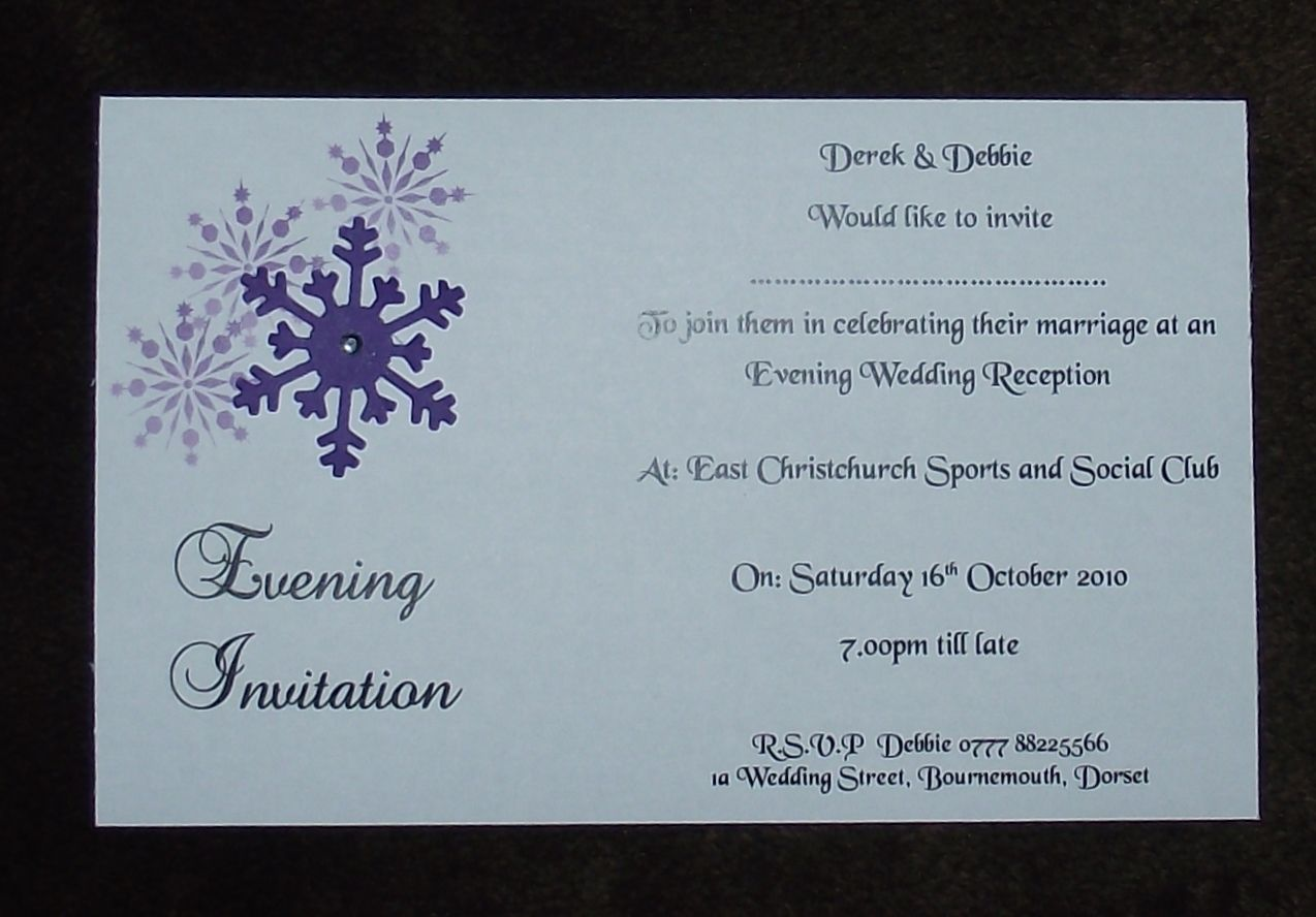 Evening Wedding Reception Invitations: Wedding Invitations Evening Invitation Personalised