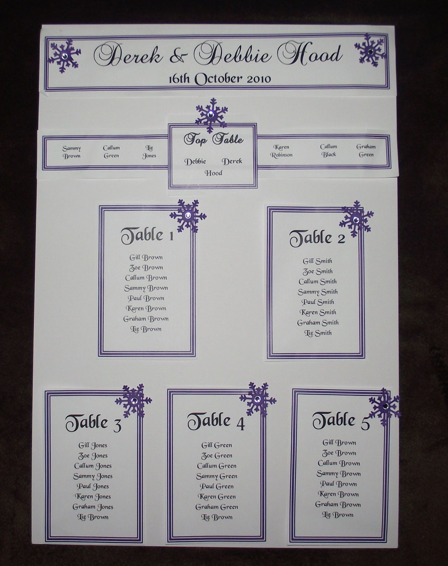 Personalised a3 a2 wedding seating plan table plan heart for Table design sample