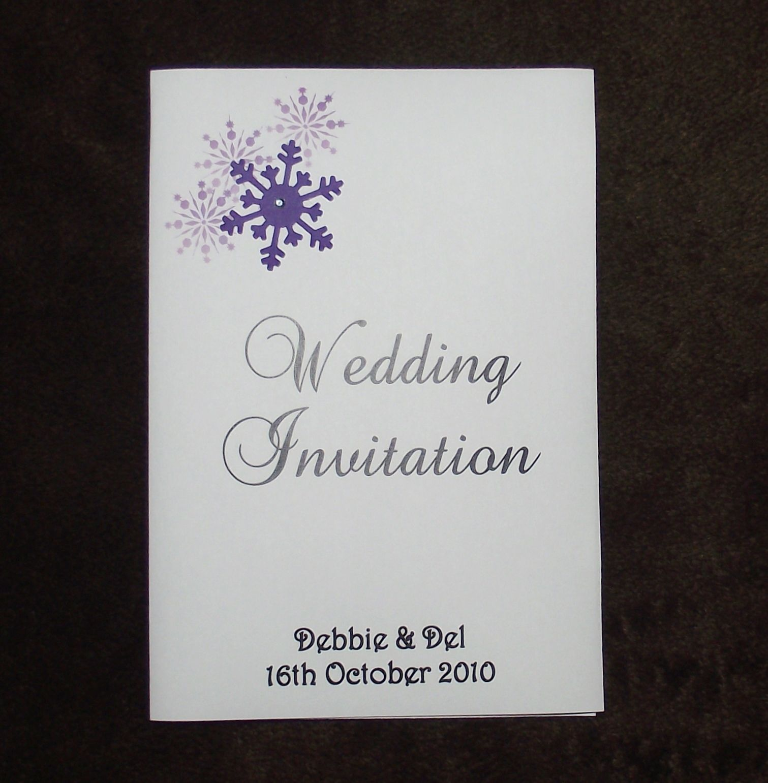 Wedding Invitations Evening Invitation Personalised Snowflake Corner ...