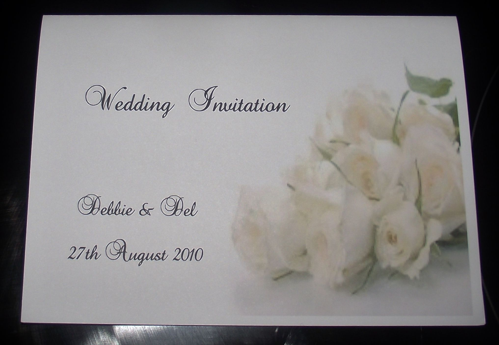 Wedding Invitation Day Or Evening Personalised Rose Design A6