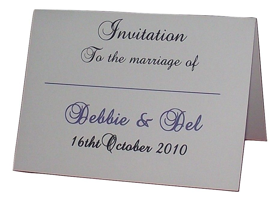 Wedding Invitation Stationery Personalised Elegant Design Various
